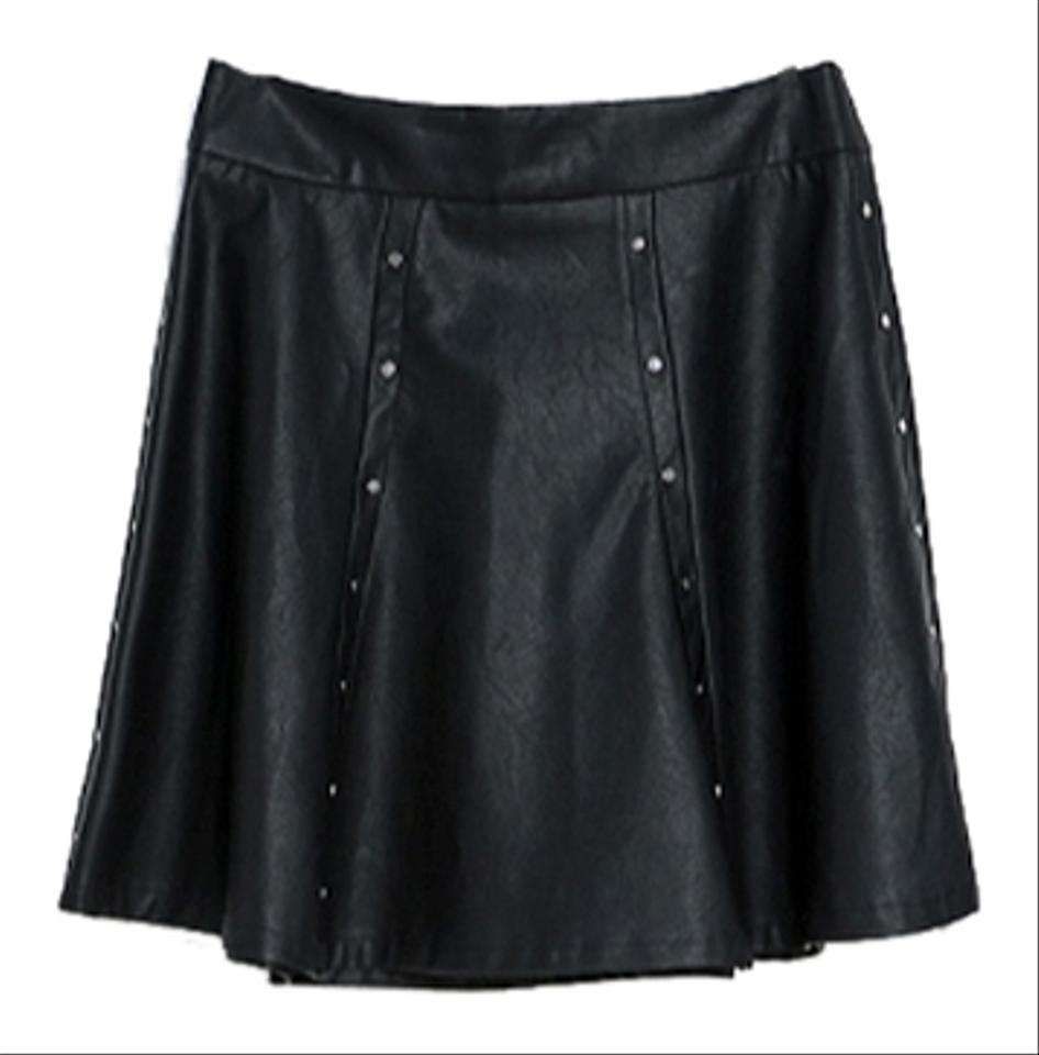 ffbe2bc70a Zara Faux Leather A Line Skirt | Saddha