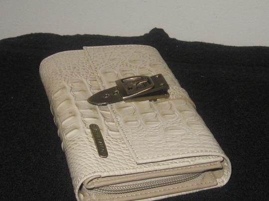 Charlie Lapson EMBROSSED LEATHER CROC ORGANIZER WALLET