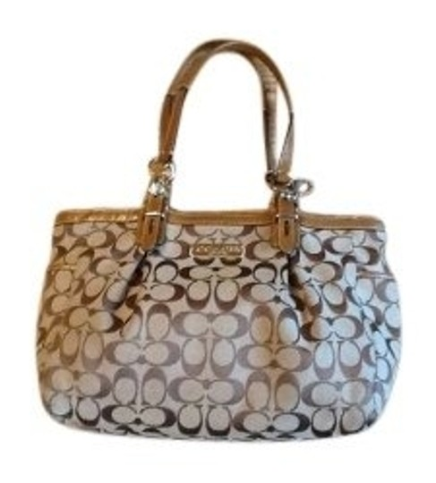 Preload https://item3.tradesy.com/images/coach-style-15146-in-khaki-stain-resistant-jacquard-fabric-and-patent-leather-tote-5627-0-0.jpg?width=440&height=440