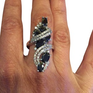 Sterling Silver Black Topaz Ring