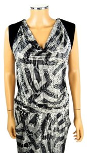BCBGMAXAZRIA #snakeprint #black #grey #cocktaildress #bcbg Dress