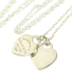 Tiffany & Co. Authentic Tiffany & Co. Sterling Silver Return to Tiffany Double Heart Pendant Necklace