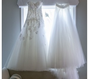Monique Lhuillier Jade Dress + Tulle Belt Wedding Dress