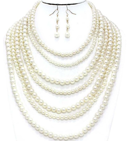 Other MultiStrand Pearl Necklace and Earrings