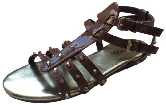 Michael Kors Brown and gold Sandals