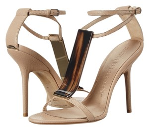 Burberry Irvington Horn Knot Nude Sandals