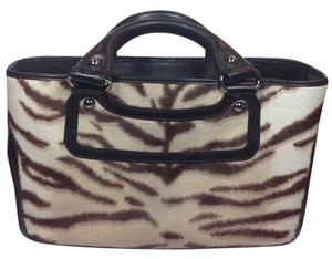 Céline Satchel in Brown and White