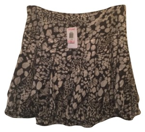 INC International Concepts Mini Skirt Black/white