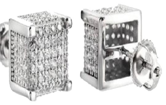 Preload https://item4.tradesy.com/images/white-gold-over-sterling-silver-925-studs-mens-ladies-finish-square-cube-lab-diamond-earrings-5628808-0-1.jpg?width=440&height=440