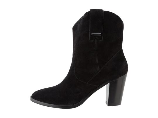 Burberry Renforth Suede Ankle Black Boots