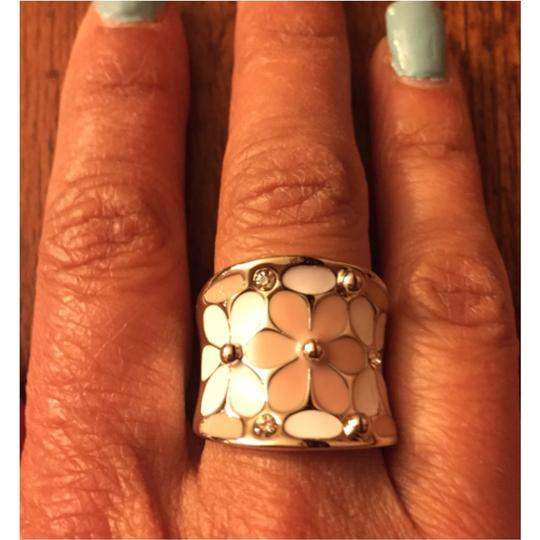 Other Silver Pink & White Flower Ring