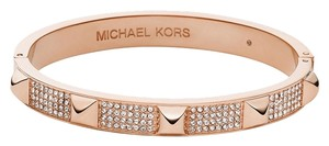 Michael Kors Michael Kors Rose Gold Heritage Pyramid Pave Bangle Braclet