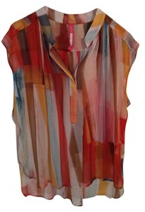 Plenty by Tracy Reese Silk Top Multi