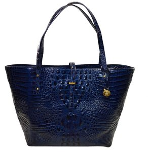 Brahmin All Day Croco Tote in Navy Blue