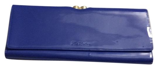 Ted Baker blue patent leather Clutch