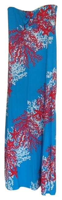 Preload https://img-static.tradesy.com/item/5630167/lilly-pulitzer-turquoise-and-corral-maxi-long-cocktail-dress-size-8-m-0-0-650-650.jpg