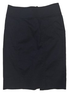 H&M Pencil Work Professional Navy Skirt Navy Blue