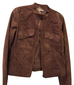 Miu Miu Brown Leather Jacket