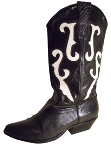 Nine West Leather black & white Boots