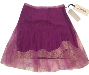 Rodarte for Target Overlay Lace Satin Chiffon Pink Mini Skirt Magenta
