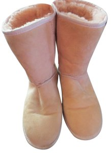 UGG Australia Leather Sheepskin Lining Pink Boots