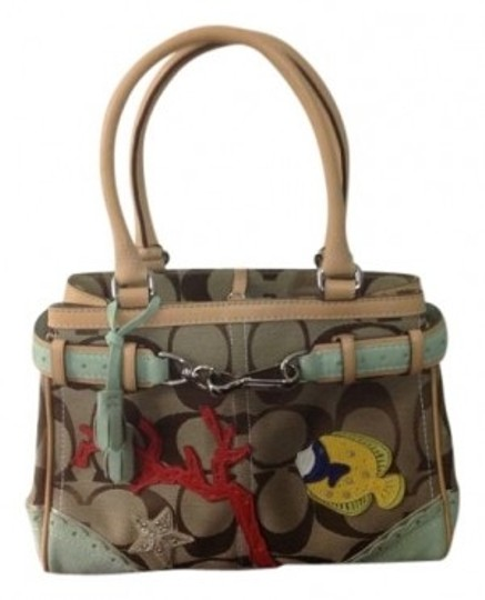 Preload https://img-static.tradesy.com/item/5631/coach-flower-designs-duffel-brown-traditional-fabric-with-suede-satchel-0-0-540-540.jpg