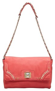 Juicy Couture Turnlock Leather Chain Strap Shoulder Bag