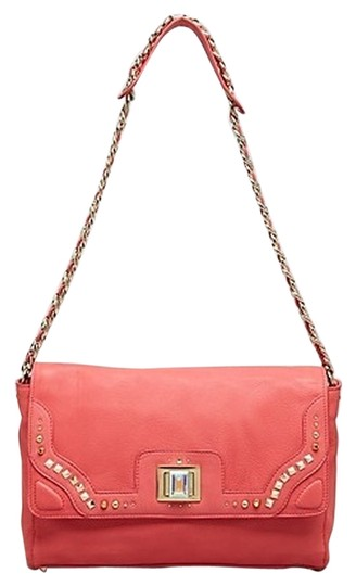 Juicy Couture Turnlock Leather Chain Strap Crystal Shoulder Bag