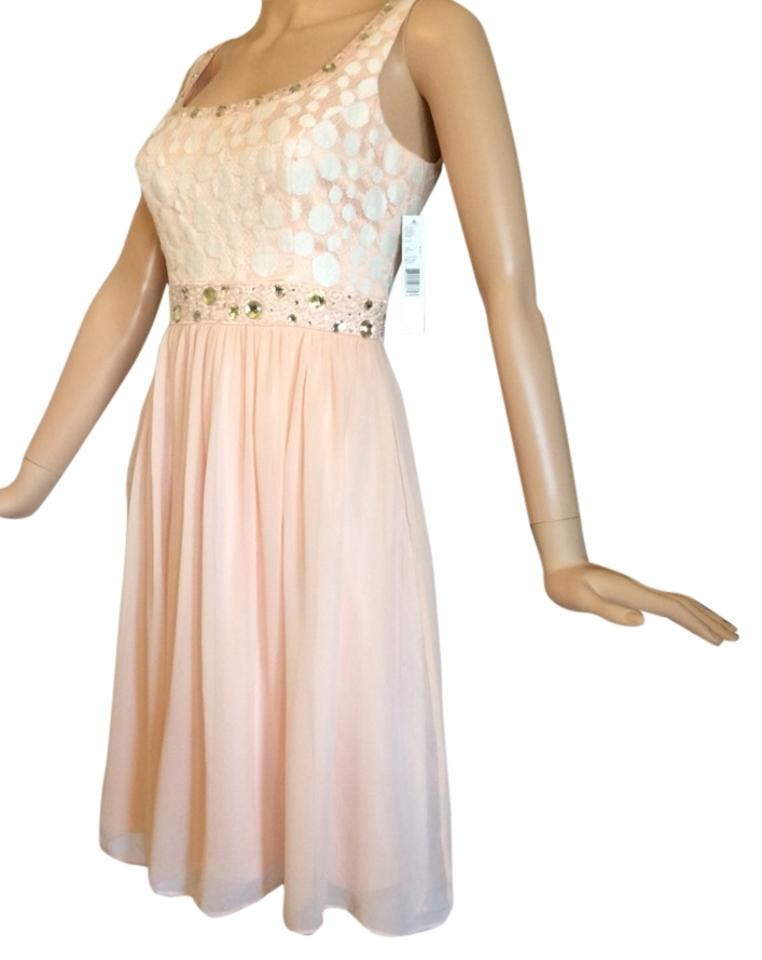 9445201d908 Antonio Melani Peach Night Out Dress Size 4 (S) - Tradesy
