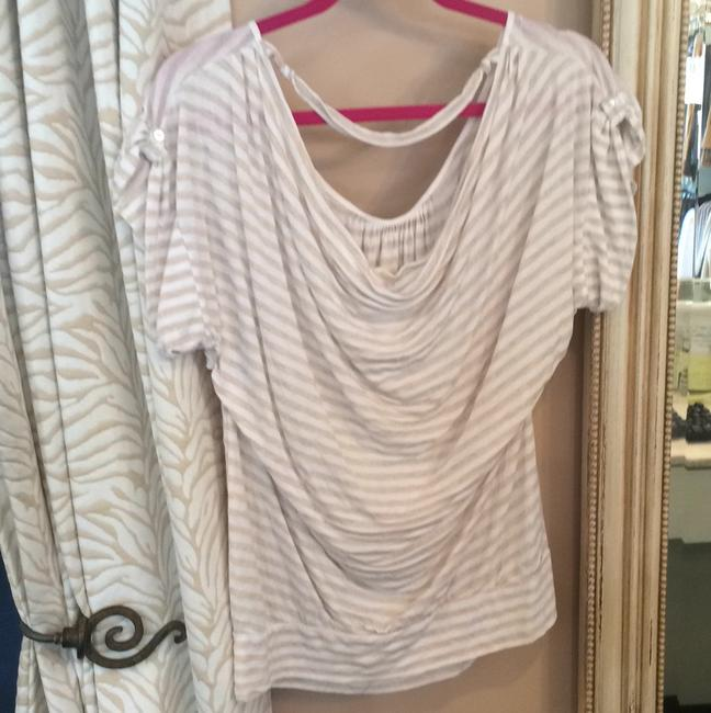 Ella Moss T Shirt White Striped