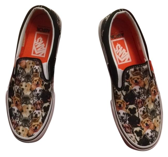Item - Multi Print Dogs Classic Slip On Sneakers Size US 9 Wide (C, D)