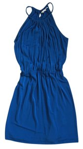 Trina Turk Cobalt Blue Jersey Knit Halter Blouson Dress 0 short dress on Tradesy