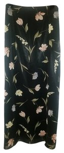 Express Maxi Skirt black floral