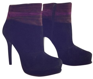 Diane von Furstenberg Black, Purple, and Gray Boots