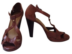 Carvela Kurt Geiger Vintage Brown Leather Platforms