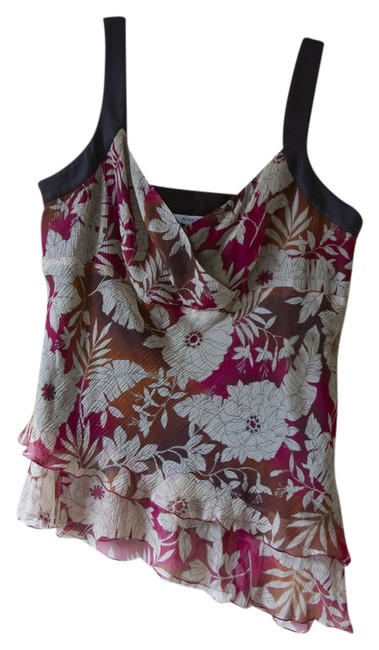 Nine West Floral Ombre Top Brown, Red