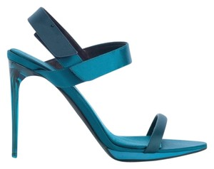 Burberry Teal Platform Blue Sandals