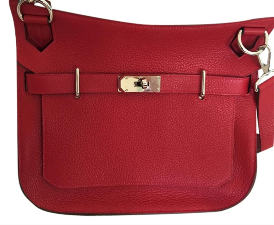 3208bd81fb Hermès Jypsiere Rouge Casaque Clemence Leather Cross Body Bag - Tradesy