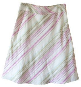 Monsoon Stripes Skirt Pink, Green