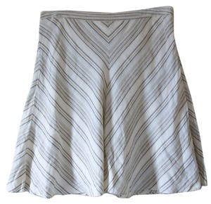 Banana Republic Stripes Skirt Tan & Nude