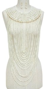 Beautiful Multi Strands of Pearl Necklace and Earring