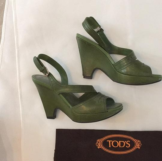 Tod's Green Wedges