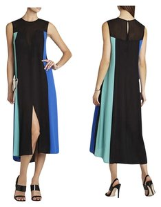 BCBGMAXAZRIA Color-blocking Modern Dress