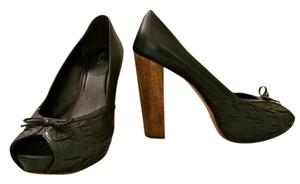 ALDO Black and Wood Platforms