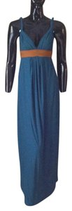Dark Blue Green Maxi Dress by Tags Maxi Grecian Empire Waist