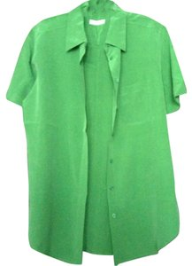 Equipment Silk Button Down Shirt green