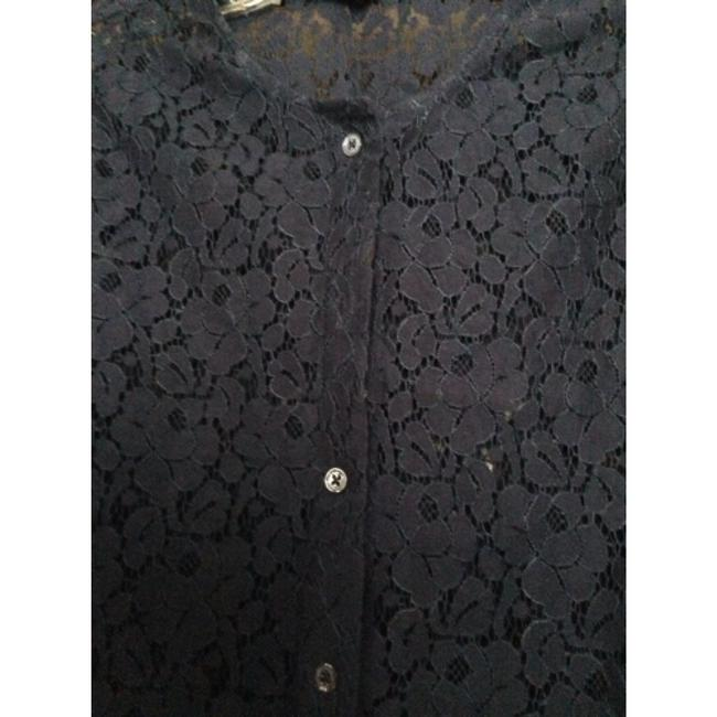 Equipment Cotton Crop Button Down Shirt navy