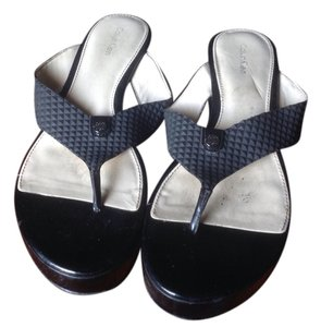 Calvin Klein Summer Like Ne With A Platform Black Sandals