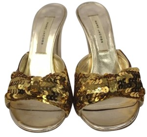 Marc Jacobs Embellished Heels GOLD Sandals