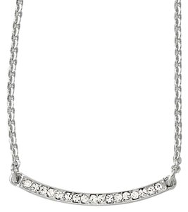 Lia Sophia NEW Lia Sophia Elegant Delicate Crystal and Silver Necklace to wear everyday - adjustable length.